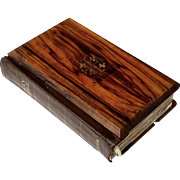Vintage Olive Wood And Leather Bound Bible From Bethlehem