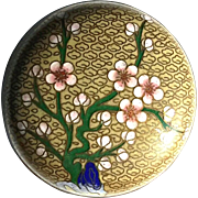 Early Vintage Chinese Round Cloisonne Box, Circa 1940