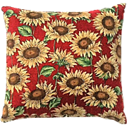 Vintage Camp And Cottage Style Pine Needle Sunflower Pillow