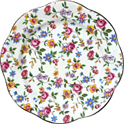 Vintage Salsbury Chintz English Bone China Lunch Plate