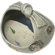 Antique Japanese Satsuma Handled Bowl, Circa 1900