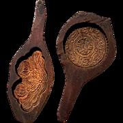 Pair Of 19th Century Chinese Wood Rice Cake Molds