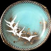 Vintage Hand-Painted Nippon Handled Flying Geese Serving Plate