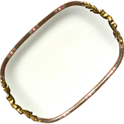 Antique Limoges Jean Pouyat French Porcelain Platter, Circa 1890