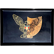 Large Vintage Couroc Of Monterey American Eagle Serving Tray