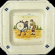 Vintage Italian Faience Glazed Pottery Tray