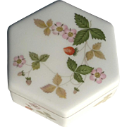 Vintage Signed Wedgwood Bone China Wild Strawberry Box