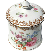 Vintage Crown Staffordshire England's Bouquet Condiment Jar