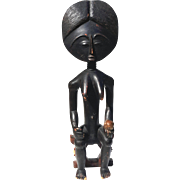 Antique African Large Carved Wood Fertility Doll