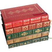 Set Of Five Vintage Leather Bound Books By The Franklin Library, Circa 1980