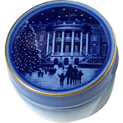 Vintage Bing & Grondahl Limited Edition White House Trinket Box