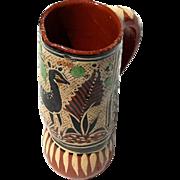 Vintage Mexican Tlaquepaque Pottery Pitcher