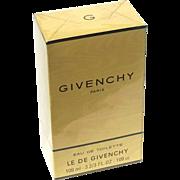 Vintage Unopened Le De Givenchy Paris 3 2/3 Fl. Oz. Eau De Toilette
