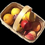 Vintage Group Of 9 Italian Alabaster Stone Fruit