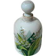 19th Century Hand-Painted Bristol Glass Perfume Bottle