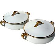 Antique Pair Of French Haviland Limoges Tureens