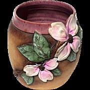 Vintage Signed Old Patagonia Floral Art Pottery Planter Vase