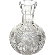 Antique Heavy Cut Crystal Wine Bottle Decanter