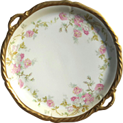Antique Blackman & Henderson French Limoges Handled Serving Plate