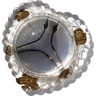 19th Century Victorian Heart Dome Glass Frame Paperweight