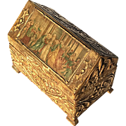 Antique Italian Florentine Gilt Wood Box, Circa 1900