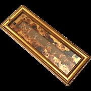 Vintage Giltwood Framed Hand-Colored Engraving