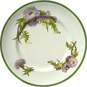 Pair Of Signed Royal Doulton Glamis Thistle Dinner Plates