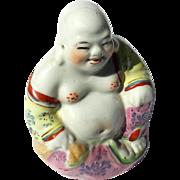 Antique Chinese Porcelain Seated Buddha, Circa 1910