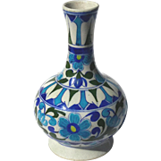 Early 20th Century ANGLO-PERSIAN Faience Bottle Vase