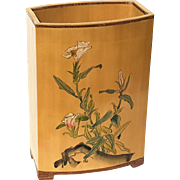 Signed Vintage Chinese Painted Bamboo Vase
