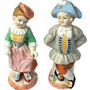 Vintage Pair Of Occupied Japan Bisque Figures, Circa 1945