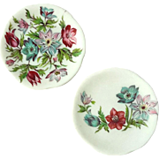 Pair Of Early Vintage Signed Miniature French Limoges Porcelain Plates, Circa 1930