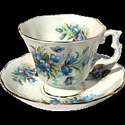 Vintage Royal Albert Bluebells Floral Cup And Saucer