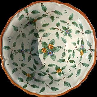 Early Vintage Italian Signed Deruta Majolica Pottery Bowl
