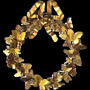 Vintage Brass All Seasons Butterfly Wreath