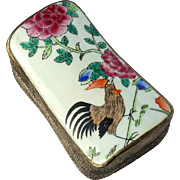 Chinese Porcelain And Metal Shard Box