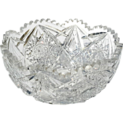 Antique Brilliant Cut Crystal Bowl, Circa 1890