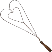 Antique Heart Shaped Wire Carpet Beater, Circa 1900