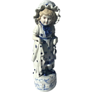 Large Victorian German Bisque Figure Of A Girl