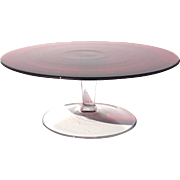 Large Red Glass Pedestal Cake Stand