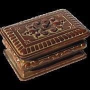 Antique Bronze Stamp Box