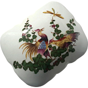 Vintage Hand-Painted Porcelain Pheasant Box