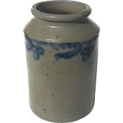 Antique Salt Glazed Stoneware Crock