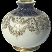 Vintage Signed Hand-Painted Nippon Moriage Bud Vase