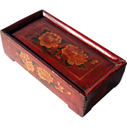 Vintage Chinese Painted Wood Box