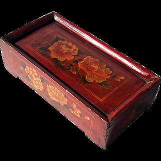 Vintage Chinese Painted Wood Box