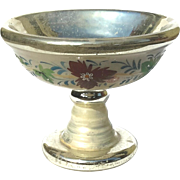 19th Century Mercury Glass Pedistal Bowl, Circa 1850