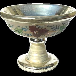 19th Century Mercury Glass Pedistal Bowl, Circa 1850