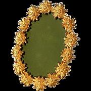 Vintage Italian Gilt Metal Floral Picture Frame