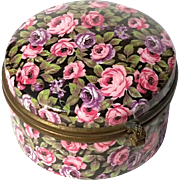 Signed Czechoslovakian Chintz Porcelain Box With Bronze Mounts